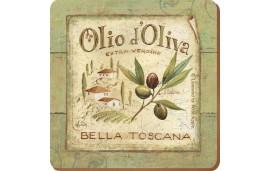 Olio d'Oliva Podkładki (6) 10,5x10,5x0,5 cm