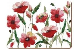 Watercolour Poppy Podkładki (4) 40x29cm
