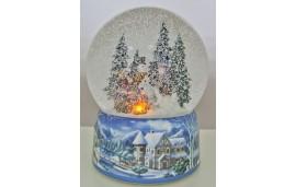 Kula śnieżna Ognisko w lesie