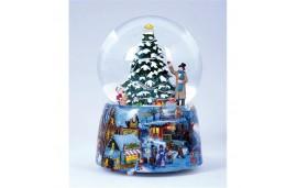 Kula śnieżna, świąteczna pozytywka, Choinka z lampkami, Music Box