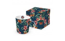 Kubek w pudełku Tropikalne kwiaty 350ml