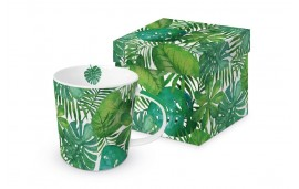 Kubek w pudełku Tropikalne liście 350ml