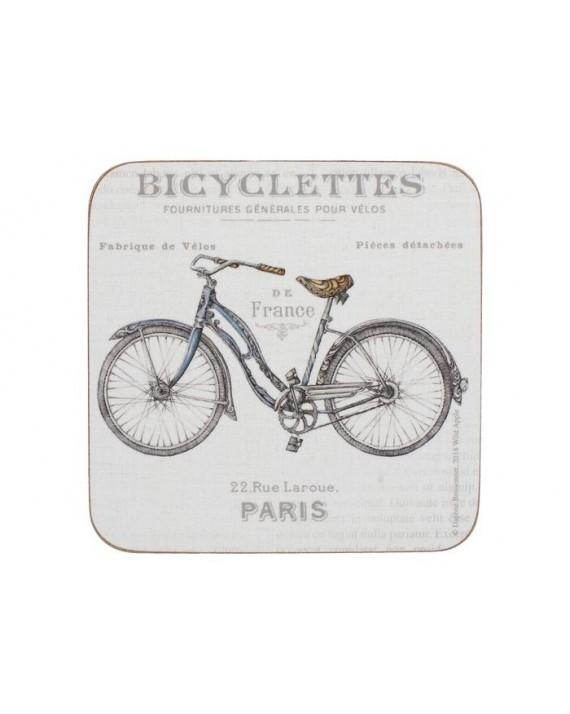 Rower Podkładki (6) 10.5x10.5cm