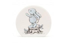 Skarbonka z niebieskim królikiem 12cm