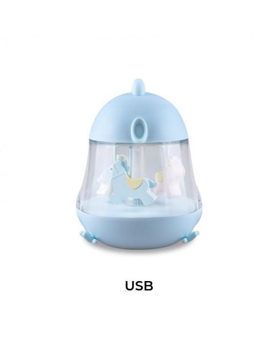 Kurczak pozytywka z lampką niebieska