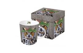 Winter Berry Owl Kubek w pudełku